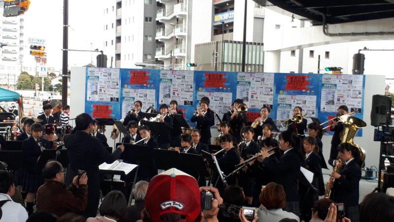 吹奏楽部 金沢八景まちびらきイベントに出演しました