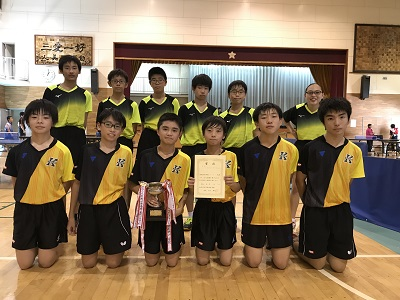 中学卓球部 金沢区大会優勝!