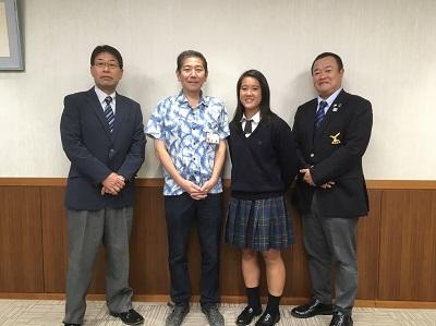 【高校女子ラグビー部】茅ヶ崎市長を表敬訪問しました