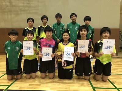 中学卓球部 神奈川県私学大会で優勝しました