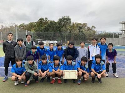 中学男子テニス部 横浜市大会団体戦第3位