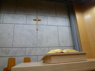 本日の礼拝(1年生5月25日月曜日)